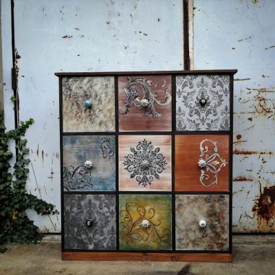 meuble de rangement banque 9 tiroirs